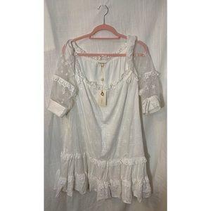 NWT For Love and Lemons White Eyelet Dress